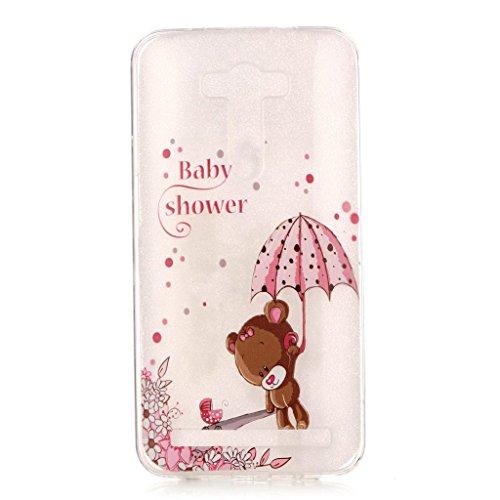 iPhone 5, iPhone 5S, iPhone se Coque en TPU £ ¬ w-pigcase coloré d'impression Perfect Fit Coque en gel silicone TPU Doux Transparent Coque pour Iphone 5/5s/SE ours