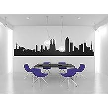 Vinilo mural Skyline Barcelona by Factor RS (250x60cm)