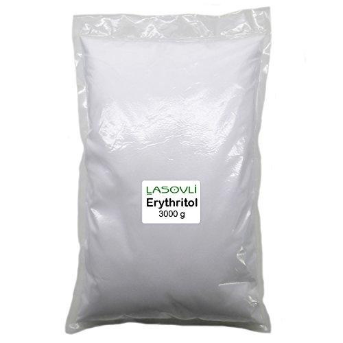 Erythrit (Erythritol), feine Kristalle / gentechnikfrei / im transparenten PE-Beutel (verschweißt) / 3 kg