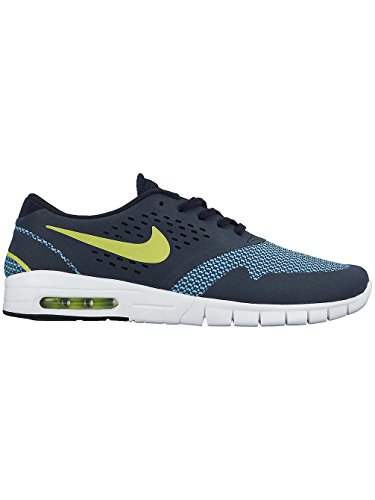 Nike Eric Koston 2 Max, Chaussures de Skate Homme, Rouge, Taille Multicolore - Negro / Gris / Azul (Dark Obsidian / Cyber-Brgd Blue)
