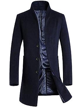 cloudstyle regalo para hombre lana francés parte delantera Slim Fit abrigo largo de negocios ¡