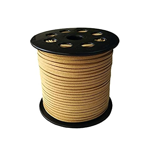 GoFriend 100 Yards Suede Cord Lace Faux Leather Cord Jewelry Making Beading Craft Thread String 3mm( Brown 1