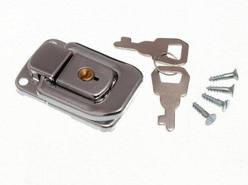Schließkasten Schließe Toggle Befestigung Trunk Catch & 2 Schlüssel 48mm X 33mm Cp ( Pck 2)