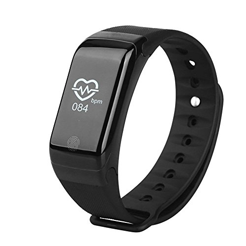 Opta SB-009 Black Basic Bluetooth Smart Band With Blood Pressure(reference), Blood Oxygen(reference) ,Heart Rate And Fitness Health Sport Bracelet Compatible With Samsung Iphone HTC Intex Vivo MI One Plus And Many Others
