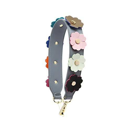 Umily Damen Taschengurt Bunter Schultergurt Tragegurt Kurze 58 cm einzigartiges und stilvolles Zubehör für alle Schultertaschen, Tragetaschen und Handtaschen-Beige Grau