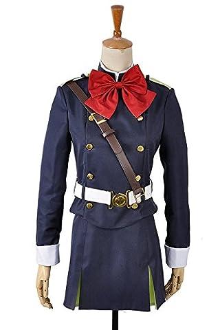 seraph der Ende Mitsuba Sune Militär Uniform Cosplay Kostüm Gr. Herren XL, as photos (Mitsuba Sangu Kostüm)