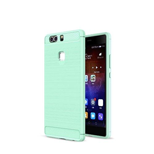 huawei-p9-plus-funda-carbon-fiber-soft-silicone-case-carcasa-funda-para-huawei-p9-plus-verde