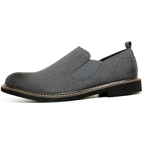 Hommes Chaussures en cuir Rétro Respirant Accueil Confortable Chaussures décontractées Chaussures plates Chaussures de loisirs Grey