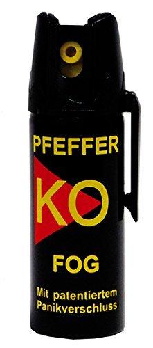 Pfefferspray KO FOG (40 ml) MIT PATENTIERTEM PANIKVERSCHLUSS - HOCH EFFEKTIV
