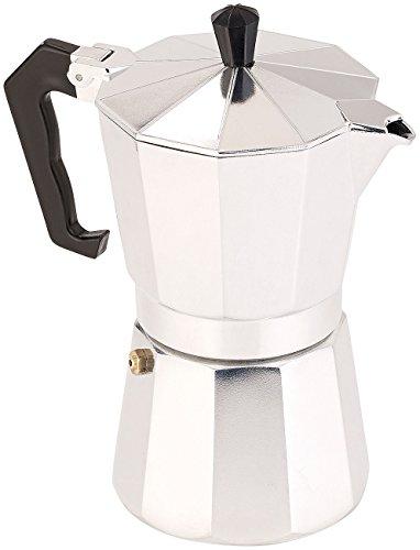 Cucina di Modena Kaffeekocher: Espresso-Kocher für 6 Tassen, für Gas, Elektro-Herd und Ceran-Feld (Espressokocher für Herde) Espresso-kaffeemaschine Italien
