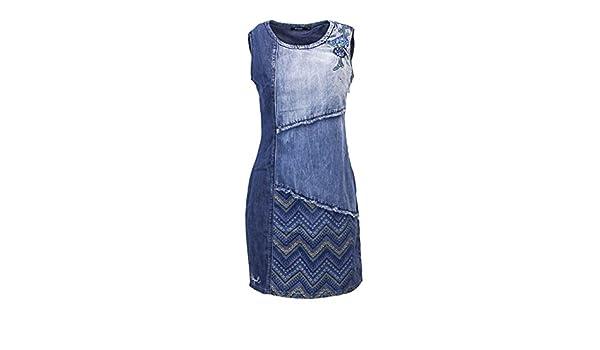 Robe Elda Femme Vz0squ Denim Desigual Amazon Vest Courte S 18wwvd08 38 7bvyYf6g