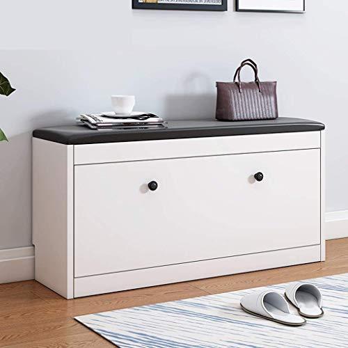 Store Hocker Aufbewahrung (FAMILI DA Haushalt Schuh Sitzbank, einfache Aufbewahrung Hocker, Mode Schuhschrank, Clothing Store Storage Hocker Stuhl (Farbe: gelb) - Weiß)