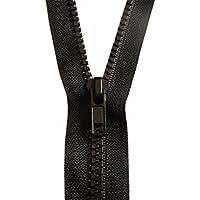 Fermeture Éclair 70 cm NOIR - MAILLE 5 mm - A Glissière Plastique A Zipper Ouvrable Séparable Couture Couleur Noir 70 cm - Largeur 3 cm.