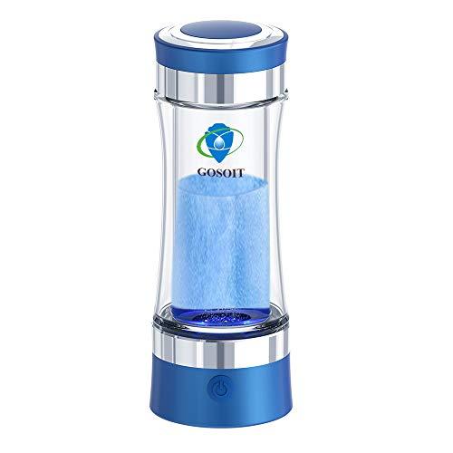 Wasserstoff Wasser Ionisator Wasserstoffreiche Basischen Alkalischer Wasser Flasche Wasserstoffgenerator mit SPE und PEM Technologie, Wasserstoffproduktion Konzentration 800-1200 PPB PH von 7,5-9,0