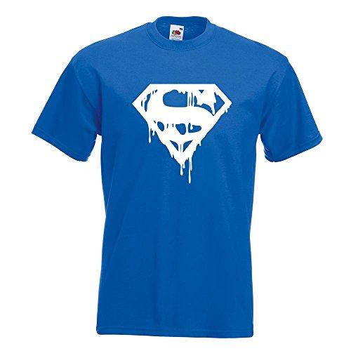 KIWISTAR - Superman Logo Shield T-Shirt in 15 verschiedenen Farben - Herren  Funshirt bedruckt