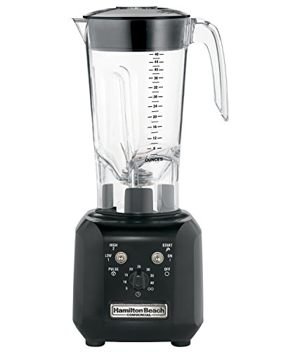 Hamilton Beach Tango HBH450-UK Commercial 2 Speed Bar Blender with Pulse and Timer, 1.4 Ltrs, 600 watts, Black