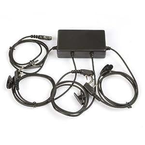 SainSonic RPT-4M Talkie-Walkie Multipoint Box Répéteur Portable pour 4 Emetteurs-Récepteurs (Noir)