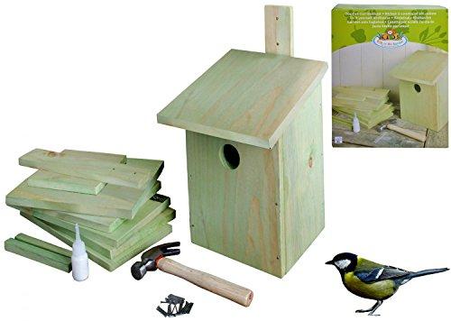 Nichoir en bois en kit à construire soi-même. Très facile.