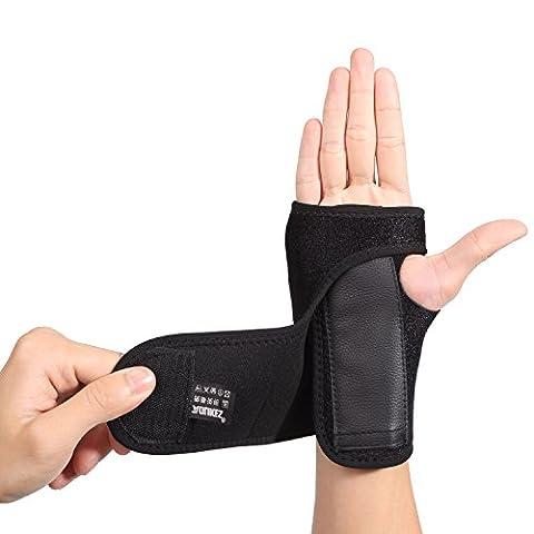 AOLIKES Détachable Attelle Orthèse Poignet Main Acier Protection pour Canal Carpien Arthrite Entorses Douleurs (Mano Regolabile Strap)
