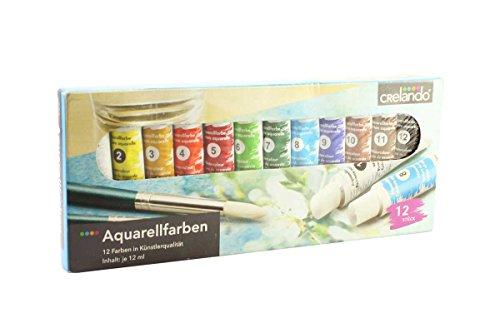 Crelando® Aquarellfarben in Künstlerqualität 12 Tuben à 12ml