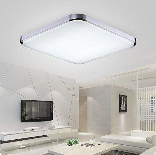 Etime® LED Deckenleuchte Dimmbar Deckenlampe Modern Wohnzimmer Lampe Schlafzimmer Küche Panel Leuchte 2700-6500K mit Fernbedienung Silber 12W (30x30cm 12W Dimmbar)