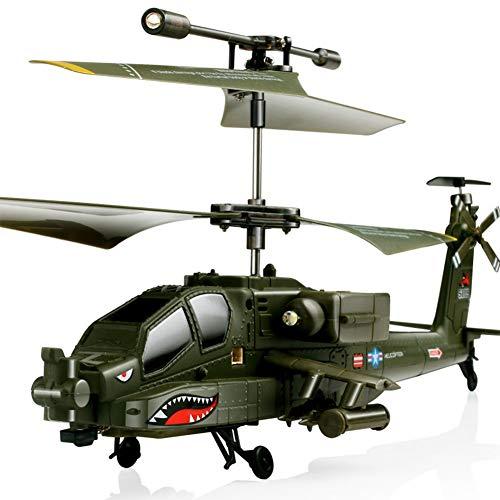 LPRWEC Sima Modellflugzeug S109G Apache Simulation militärisch Fernsteuerungsflugzeuge 3 Kanäle Gyro kämpfen und LED-Leuchten Drone Hubschrauber - Lego-kits Armee