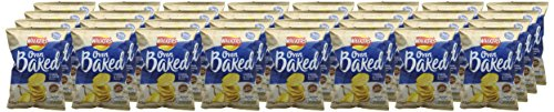 Walkers Baked Cheese and Onion Crisps Box, 37.5 g (Case of 32)