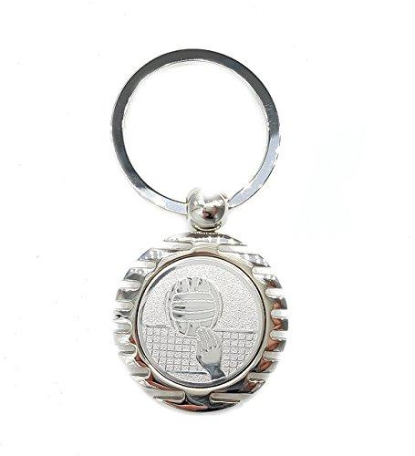 Volleyball Motiv Schlüsselanhänger elegant silber glänzend mit Geschenkbox (Oberarm-umfang)