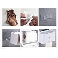 Multifunctional waterproof tissue box toilet Punch-free paper towel rack toilet tray toilet roll holder paper towel holder creative toilet roll paper box tissue