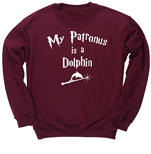 NO.1 COFFEE & TEA PRODUCTS HIPPOWAREHOUSE MY PATRONUS IS A DOLPHIN UNISEX JUMPER SWEATSHIRT PULLOVER BEST BUY REVIEWS UK