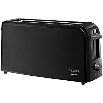 Siemens TT3A0003 Langschlitz Toaster Series 300, schwarz