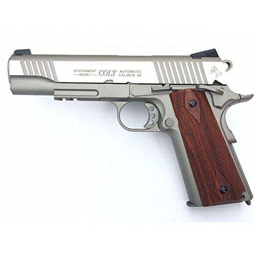 Cybergun Colt 1911Schiene Gun Stainless CO2Nachbildung Leistung 0,5Joules -