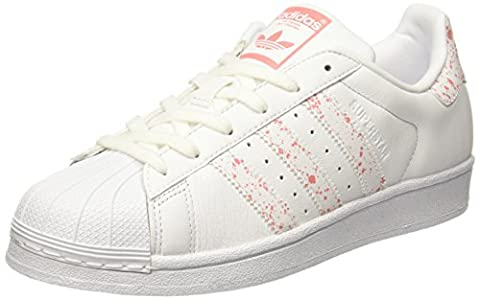 adidas Superstar, Sneakers Basses Femme, Blanc (Footwear White/Footwear White/Tactile Rose), 39 1/3 EU