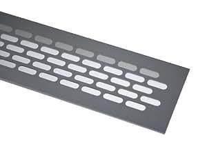 Gitter Grille d'aération en tôle d'aluminium anodisé Couverture de radiateur Argenté 60x480mm