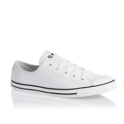 Converse  Dainty Leath Ox, Sneakers Basses femme Blanc - Blanc