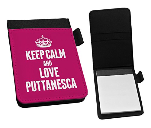 Duke Gifts PINK Keep Calm and Love Puttanesca Small Notepad 1431