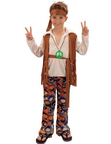Hippy Boy - Childrens Fancy Dress Costume - Medium or XL