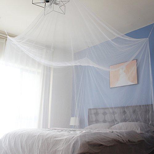 Sekey Moustiquaire pour lits simples à doubles | Protection de d'insecte | Écran de protection anti-insectes | Système d'installation rapide et facile, 220x200x200 CM