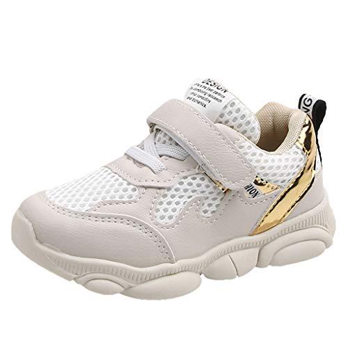 Kitty Hallo Kostüm Babys - Likecrazy Kinder Baby Schuhe Unisex Sport Sneaker Turnschuhe Schuhe mit Licht LED Leuchtende Blinkende Babyschuhe Lauflernschuhe für Kinder Mädchen Jungen Brief Mesh Patchwork Schuhe