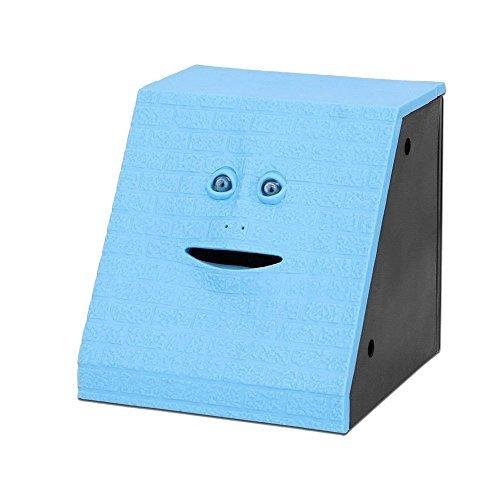 Onerbuy Novedad Face Bank Moneda Comer Banco de Ahorros Niños Ahorro de dinero Colección Piggy Bank (Ladrillo azul)