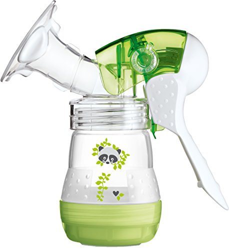 MAM Breast Feeding Starter Set including Breast pump and Anti colic self sterilising bottles (Green)