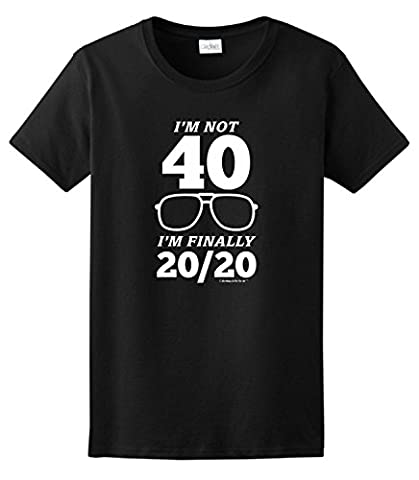 40th Birthday Gifts for All Not 40 Finally 20/20 Ladies T-Shirt XXX-Large Royal