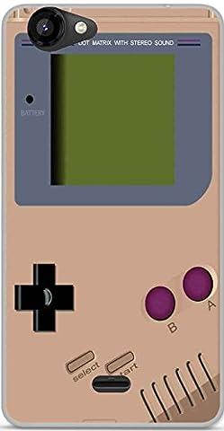 Coque TPU gel souple Wiko Rainbow Jam design Game Boy Toasted Almond