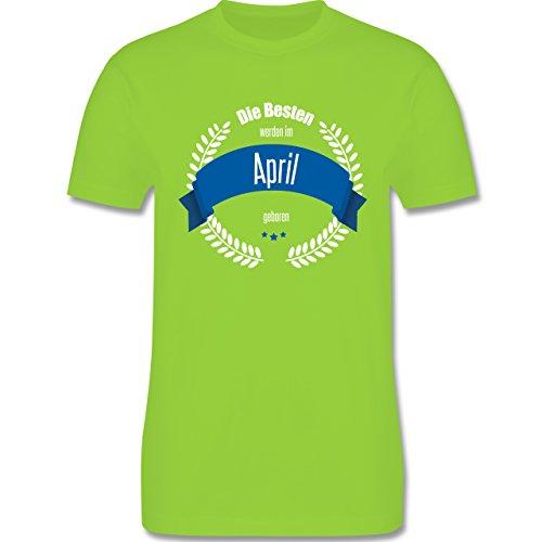Geburtstag - Die Besten werden im April geboren - Herren Premium T-Shirt Hellgrün
