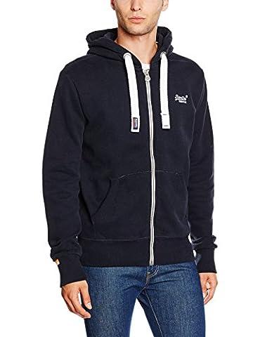 SUPERDRY Herren Sweatshirt Orange Label Ziphood, Blau (Eclipse Navy98T), XL