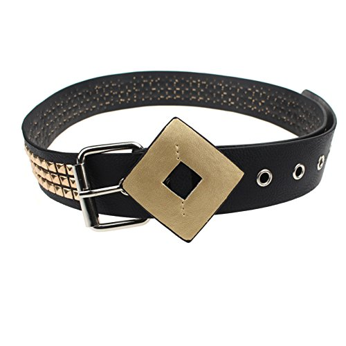 Udekit Goldnieten Schwarzen Ledergürtel für Frauen Mädchen Kinder Cosplay Zubehör Ausrüstung Prime (Halloween-kostüme Zu Niedlich, Machen Einfach Frauen)
