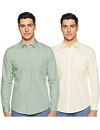 Amazon Brand - Symbol Men's Regular Fit Casual Shirt