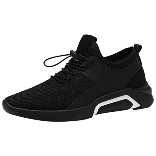 Subfamily Scarpe Traspiranti Casual e Confortevoli da Uomo Sneakers Stringate Tinta Unita Sneakers Traspiranti a Rete Scarpe da Ginnastica Fitness Scarpe Buco Festa del papà