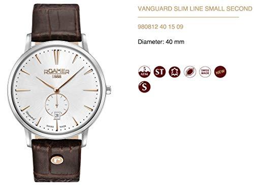 ROAMER Herren Analog Quarz Uhr mit Leder Armband 980812 40 15 09
