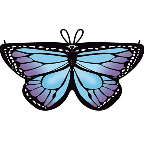 Faschingskostüme Schmetterling Schal Kinder Kostüm Butterfly Wings Flügel Pixie Cape Mädchen Poncho für Cosplay Halloween Fasching (White Ranger Kostüm Kinder)